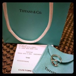 Tiffany and Co Open Heart Ring Size 7 Gorgeous